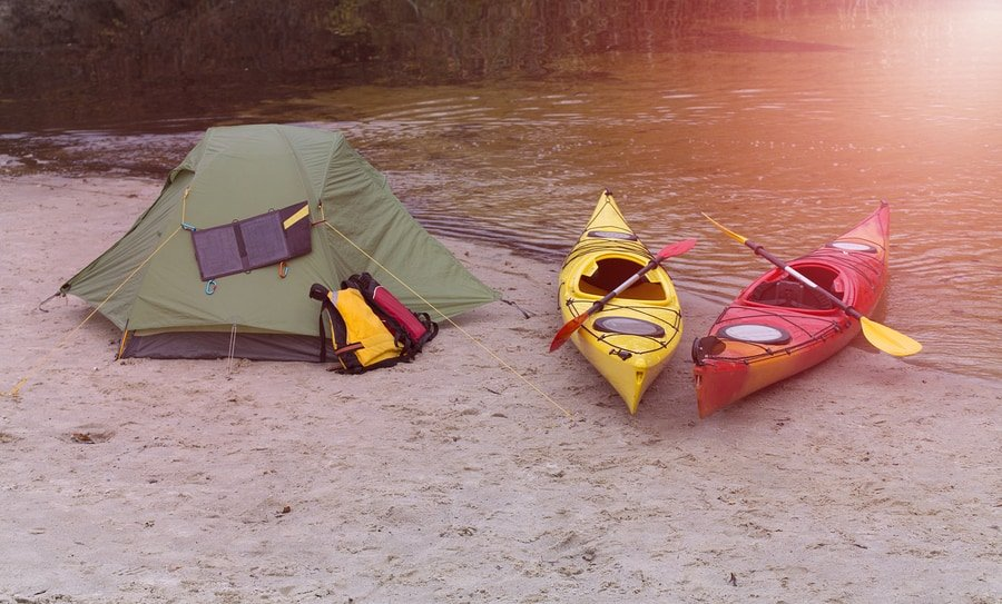 Kayak Camping On The River