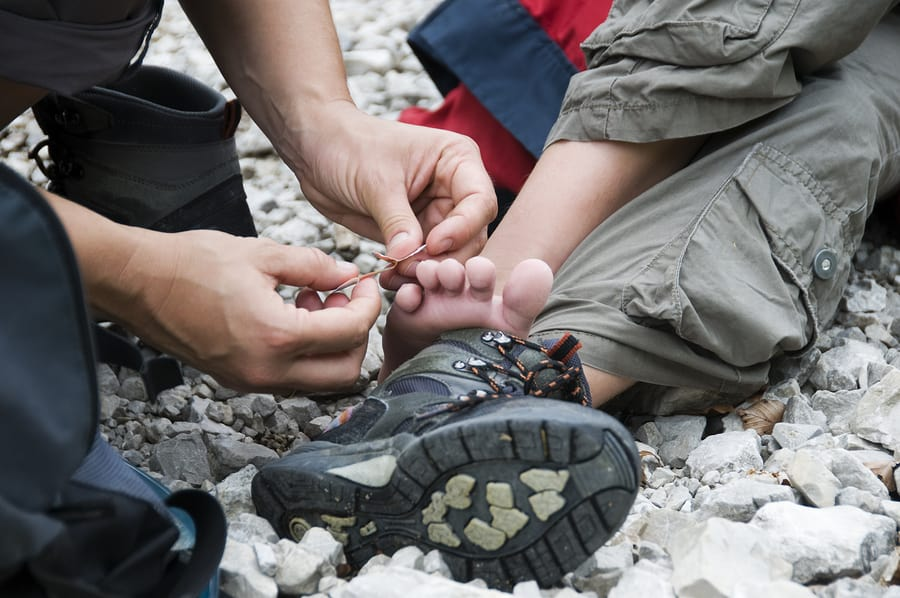First Aid for Foot Blister