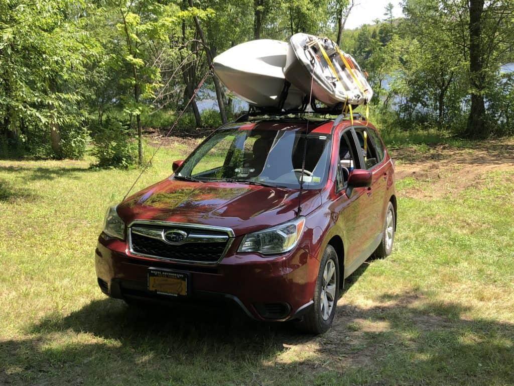 Subaru at Raquette River