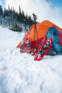 Winter Campsite - Tenting in the Snow