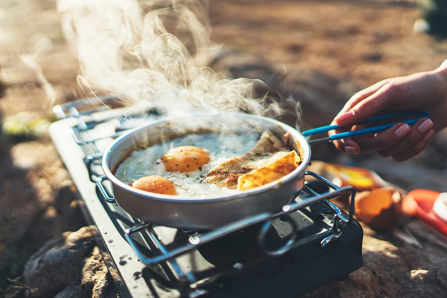Camp Cooking on a Camp Stove